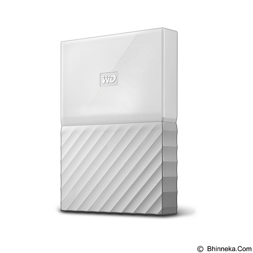 WD My Passport 1TB USB 3.0 2.5 Inch - White (Merchant) - Hard Disk External 2.5 Inch