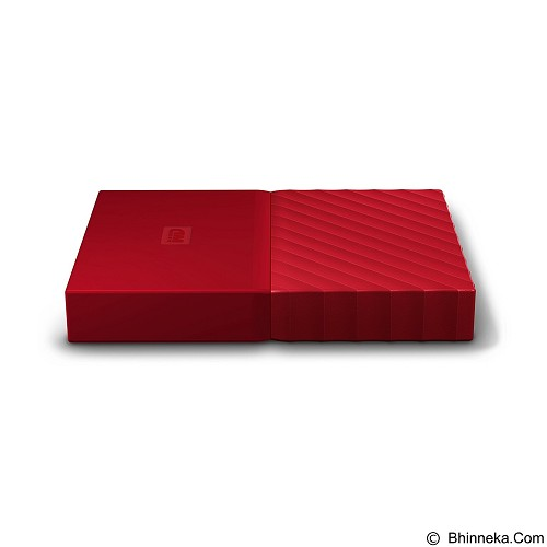 WD My Passport 2TB USB 3.0 2.5 Inch - Red (Merchant) - Hard Disk External 2.5 Inch