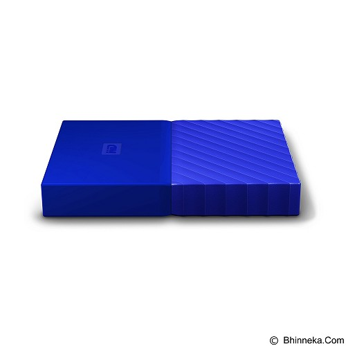 WD My Passport 3TB USB 3.0 2.5 Inch - Blue (Merchant) - Hard Disk External 2.5 Inch