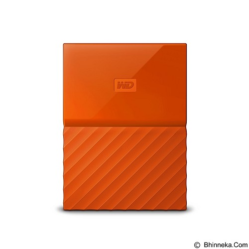 WD My Passport 3TB USB 3.0 2.5 Inch - Orange (Merchant) - Hard Disk External 2.5 Inch