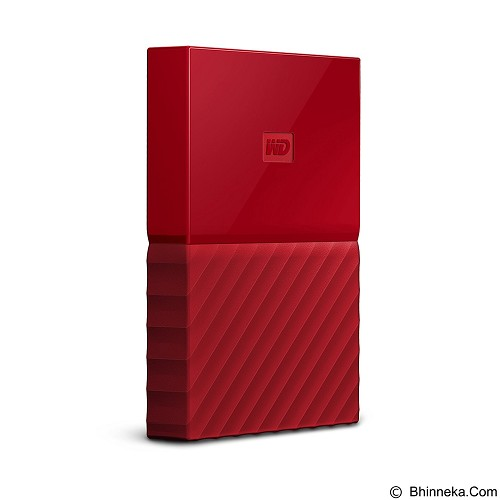WD My Passport 3TB USB 3.0 2.5 Inch - Red (Merchant) - Hard Disk External 2.5 Inch