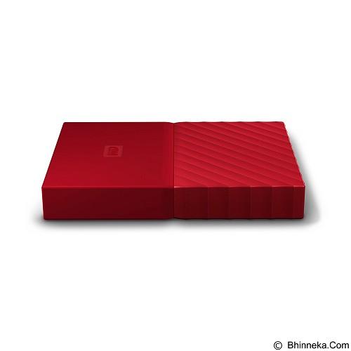 WD My Passport 3TB USB 3.0 2.5 Inch - Red (Merchant) - Hard Disk External 2.5 Inch