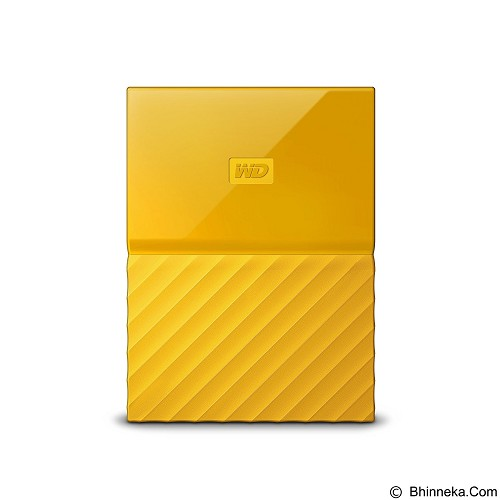 WD My Passport 4TB USB 3.0 2.5 Inch - Yellow (Merchant) - Hard Disk External 2.5 Inch