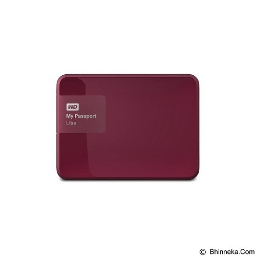 WD My Passport Ultra 1TB USB 3.0 - Berry (Merchant) - Hard Disk External 2.5 Inch
