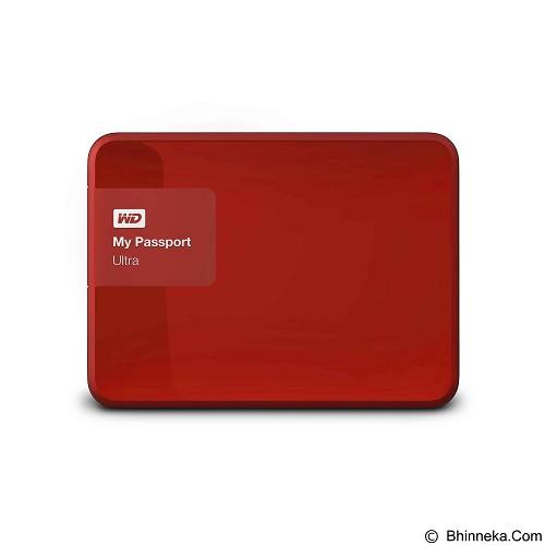 WD My Passport Ultra 2TB USB 3.0 - Red (Merchant) - Hard Disk External 2.5 Inch