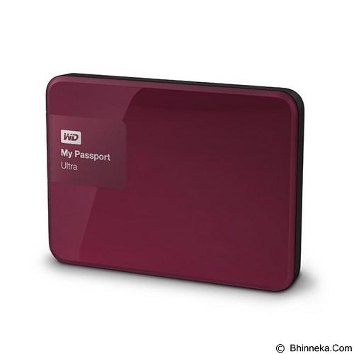 WD My Passport Ultra New 1TB USB 3.0 - Berry (Merchant) - Hard Disk External 2.5 Inch