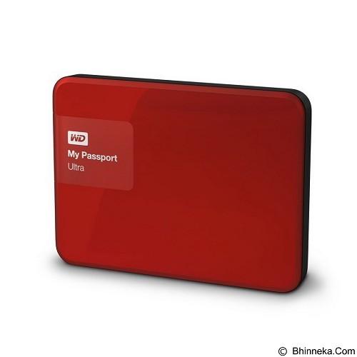 WD My Passport Ultra New 2TB USB 3.0 - Red (Merchant) - Hard Disk External 2.5 Inch