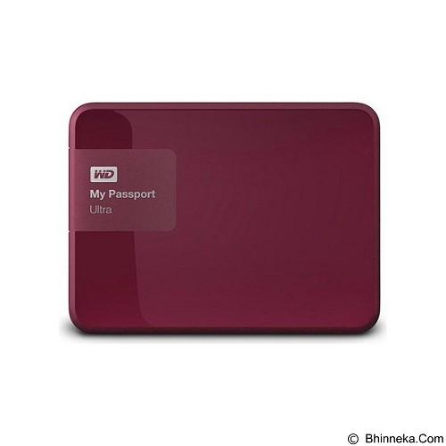 WD My Passport Ultra New 500GB USB 3.0 [WDBWWM5000ABY-PESN] - Berry - Hard Disk External 2.5 Inch