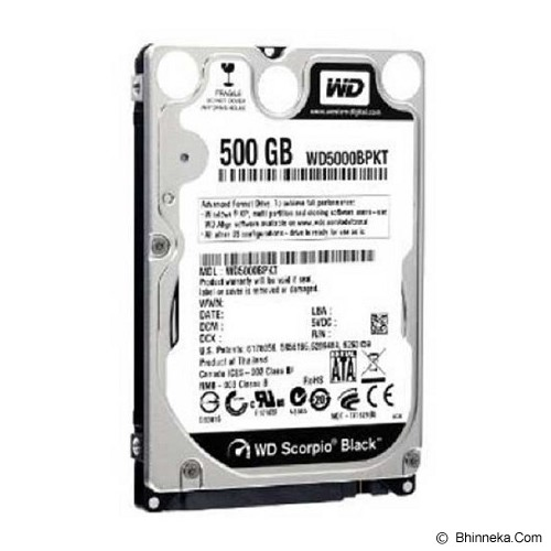 WD Scorpio Black 500GB - HDD Internal SATA 2.5 inch