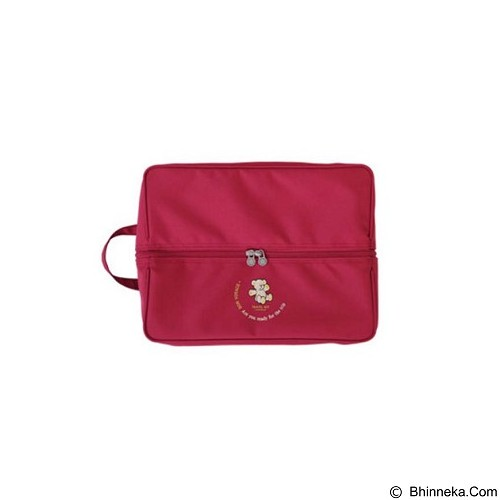 WEEKEIGHT Generic Tas Travel Korean Partition Shoes Bag [WK-PSB-R] - Red - Travel Bag
