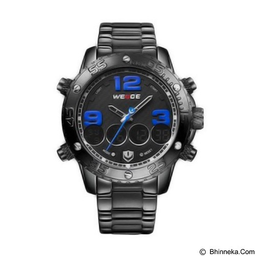 WEIDE Jam Tangan Sport Pria Japan Quartz Stainless Strap [WH3405] - Black Blue (Merchant) - Jam Tangan Pria Fashion