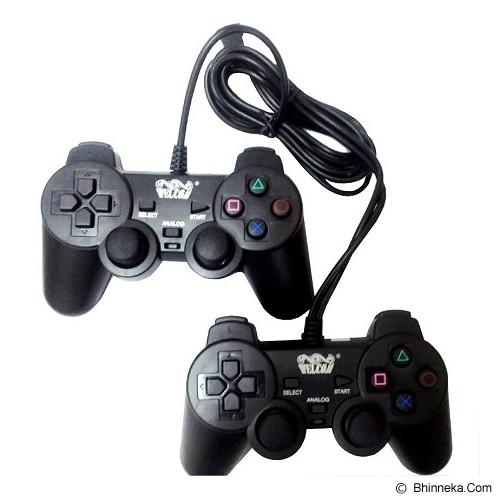 WELLCOMM Gamepad Double Getar - Hitam - Gaming Pad / Joypad