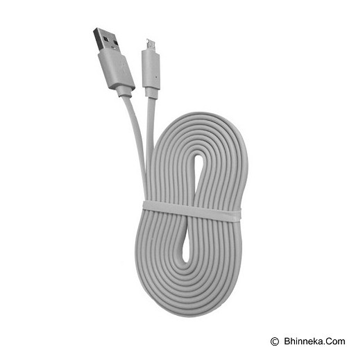 WELLCOMM Kabel Data Flat Micro USB 1.5M - Grey (Merchant) - Cable / Connector Usb