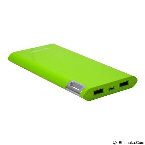 WELLCOMM Powerbank 10000mAh Real Capacity - Green (Merchant) - Portable Charger / Power Bank