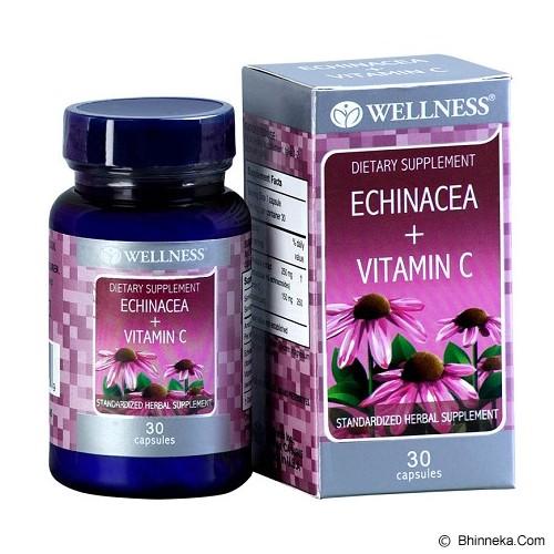 harga WELLNESS Echinacea + Vit. C 30 Caps Bhinneka.Com