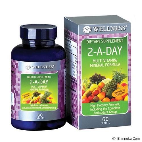 WELLNESS Multivitamin/Mineral 2-A-DAY 60 Tabs - Suplement Pencegah Penyakit Jantung / Kolesterol