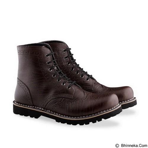 WETAN Sepatu Boots Pria Kartanegara1 Size 45 - Brown - Dress Boots Pria