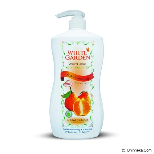 WHITE GARDEN Shower Cream Jeju Mandarin 1100ml - Sabun Mandi