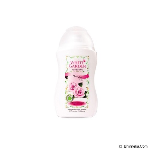 WHITE GARDEN Shower Cream Pink Rose 250ml - Sabun Mandi