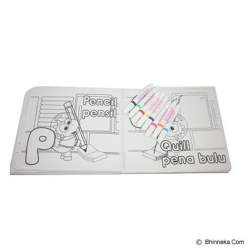 WIIWASH Washable Book with Markers [BZ-912] - ABC Vol. 2 (Letter J-R) - Buku Seni Gambar
