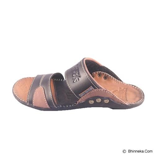 WIN LEATHER Sandal Kasual Pria Kulit Sapi Asli Size 39 [FTP S-01] - Sandal Casual Pria