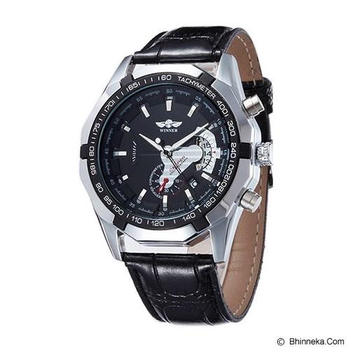 WINNER Automatic Mechanical Watch For Men [TM340] - Black - Jam Tangan Pria Casual