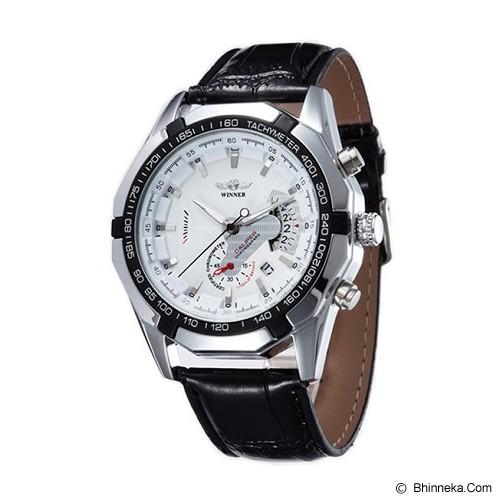WINNER Automatic Mechanical Watch For Men [TM340] - White - Jam Tangan Pria Casual