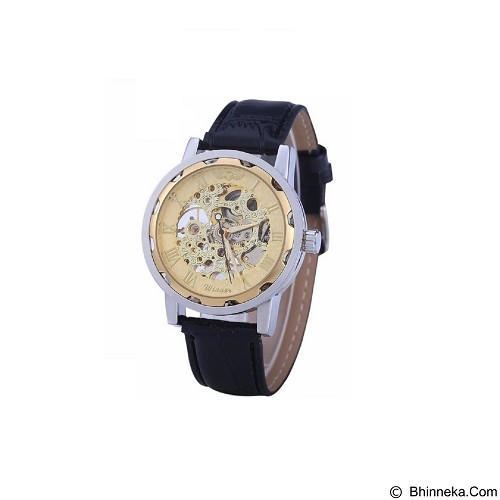 WINNER Skeleton Automatic Mechanical Watch 01 - Gold (Merchant) - Jam Tangan Pria Casual