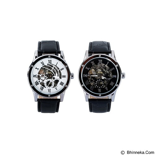 WINNER Skeleton Automatic Mechanical Watch 02 - Black (Merchant) - Jam Tangan Pria Casual