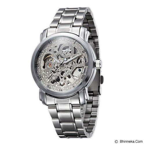 WINNER Skeleton Automatic Mechanical Watch For Men [U8008] - Silver - Jam Tangan Pria Casual