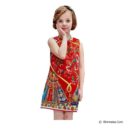 WL MONSOON Dress Princess Sleveless Size 10A Y 140cm - Red - Dress Bepergian/Pesta Bayi dan Anak