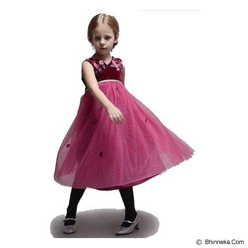 WL MONSOON Dress Wine Size 5A Y 110cm - Red - Dress Bepergian/Pesta Bayi dan Anak