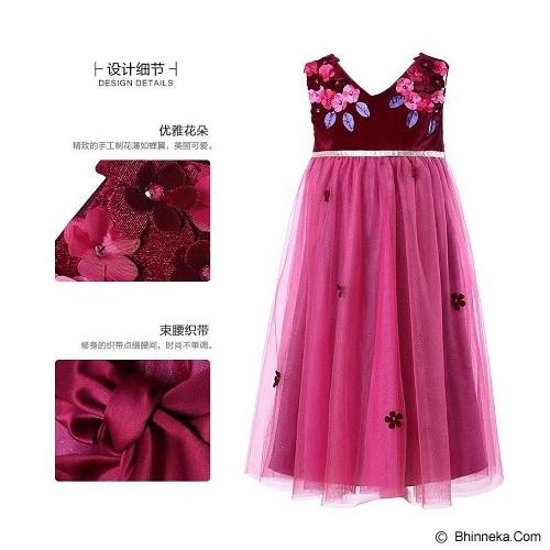 WL MONSOON Dress Wine Size 8A Y 128cm - Red - Dress Bepergian/Pesta Bayi dan Anak