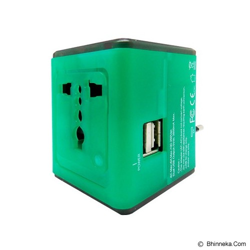 WON Travel Adapter Charger [T268] - Hijau - Universal Charger Kit