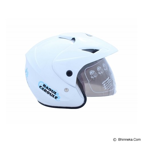 WTO Helm Anak Caroul All Size - Putih - Helm Motor Half Face