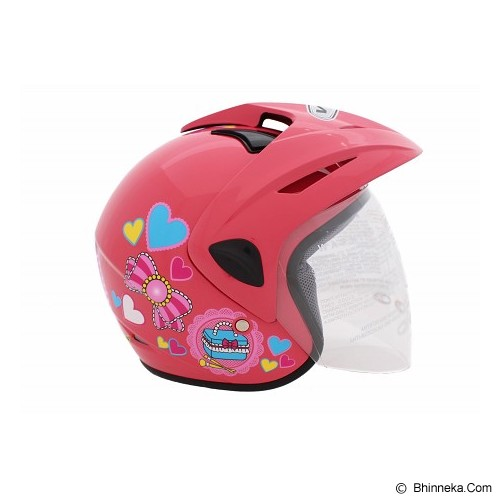 WTO Helm Anak Kids Pet Charmmy Size M - Pink - Helm Motor Half Face