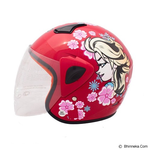 WTO Helm Anak Frozzy Size M - Merah - Helm Motor Half Face