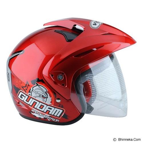 WTO Helm Anak Gundam 3 Size M - Merah - Helm Motor Half Face