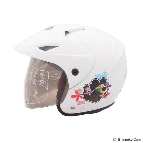 WTO Helm Anak Little Marie All Size - Putih - Helm Motor Half Face