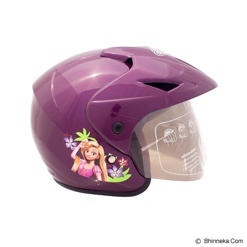 WTO Helm Anak Rapunzel All Size - Ungu - Helm Motor Half Face