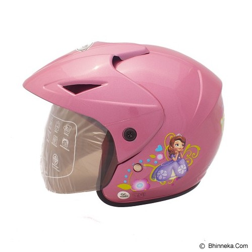 WTO Helm Anak Sofie All Size - Pink Ungu - Helm Motor Half Face