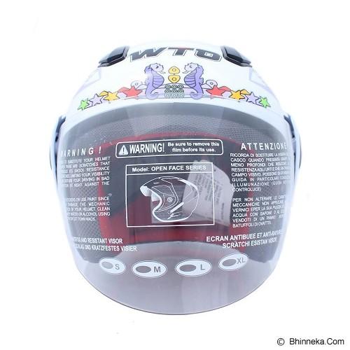 WTO Helm Anak Sofie Size M - Putih - Helm Motor Half Face