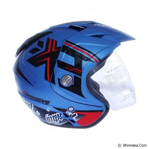 WTO Helmet Impressive Crossline Size M - Seablue - Helm Motor Half Face