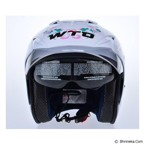 WTO Helmet Impressive Pixie Size M - Putih - Helm Motor Half Face