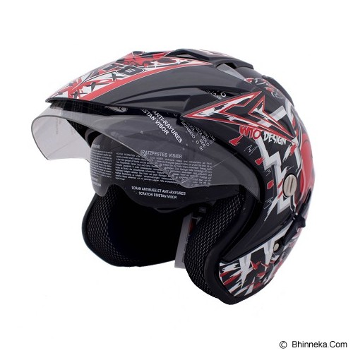 WTO Helmet Impressive Skully Size XL - Hitam - Helm Motor Half Face
