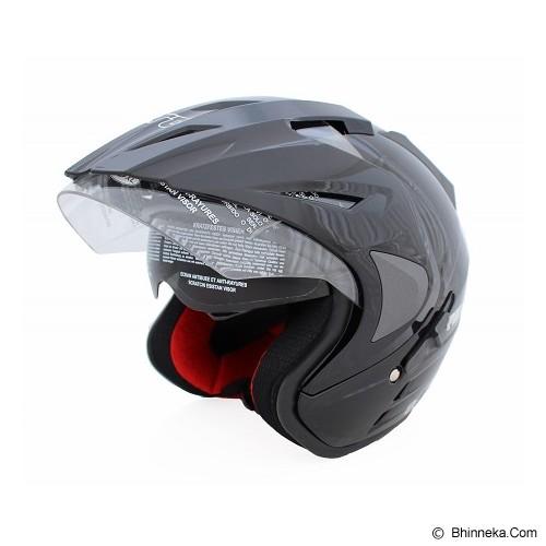 WTO Helmet Pro-Sight Size M - Hitam - Helm Motor Half Face