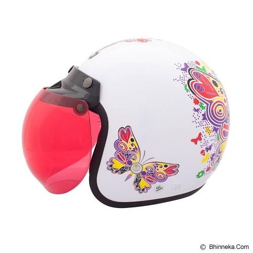 WTO Helmet Retro Butterfly Size XL - Putih - Helm Motor Half Face