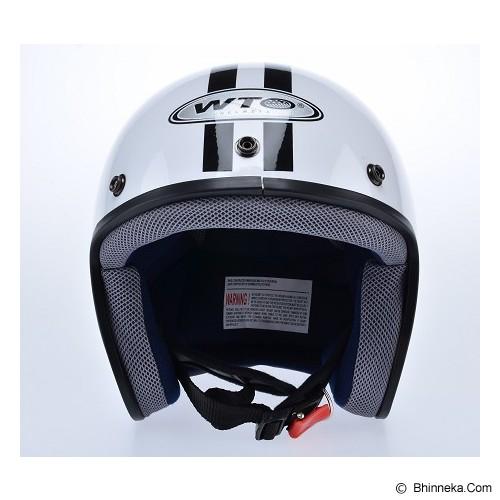 WTO Helmet Retro Do The Ton Size L - Putih Hitam - Helm Motor Half Face