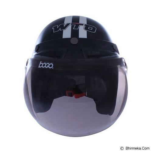 WTO Helmet Retro Do The Ton Size M - Hitam Putih - Helm Motor Half Face