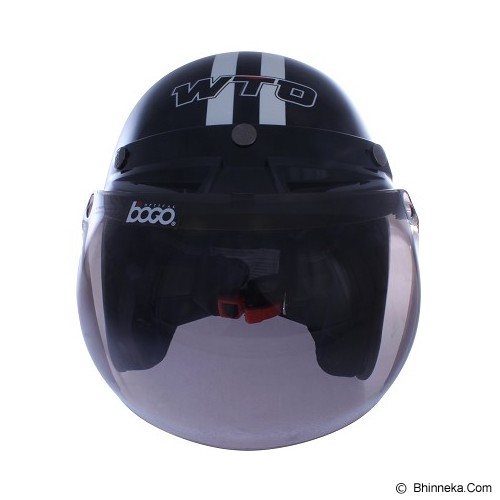 WTO Helmet Retro Do The Ton Size XL - Hitam Putih - Helm Motor Half Face